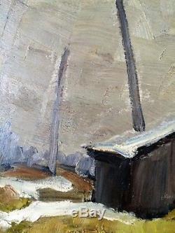 Vintage 1940's Tom Roberts Framed Oil Painting Signed