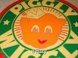 Vintage 1948 Piggly Wiggly Grocery Store 9 Porcelain Metal Pig Gas & Oil Sign