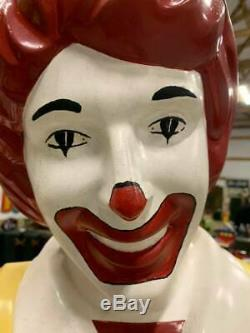 Vintage 1960's Ronald Mcdonald Mcdonald's Playground 6 Foot Statue GAS OIL SODA