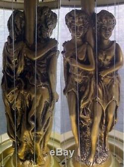 Vintage 1978 Oil Drip Rain Lamp, Creators Inc. Chicago, Double Goddess, Signed