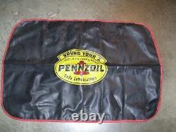 Vintage 50s Pennzoil oil station auto fender part service Ford gm jalopy chevy
