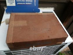 Vintage AC Delco Radiator Cap Display Cabinet Sign Gasoline Oil RARE IN BOX
