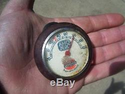 Vintage AMOCO auto gas oil station thermometer gauge gm ford chevy rat rod dodge