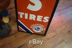 Vintage Atlas Tires Standard Oil Co Porcelain Gasoline Service Station Pump Sign