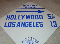 Vintage Auto Club Of Southern California 12 Porcelain Metal Gasoline & Oil Sign