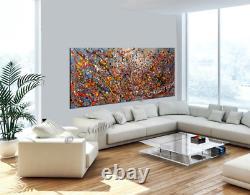 Vintage Beauty 118 Painting Large Oil Painting 72 Jackson Pollock Drip Style