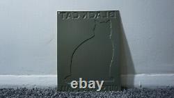 Vintage Black Cat Enamel Stove Polish Gasoline Oil Sign Gas Station Tin Rare