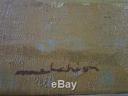 Vintage Chinle Navajo Reservation Painting Signed Mystery Artist American Desert