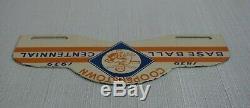 Vintage Cooperstown Gasoline Porcelain Sign Gas Oil Baseball Mlb Plate Topper