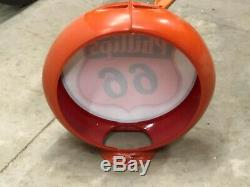 Vintage Early HAYES OLD Square VISIBLE GAS PUMP Oil Sign PHILLIPS 66 Station