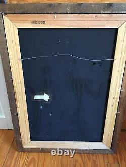 Vintage Elvis Presley Large Painting Black Velvet 39 X 27 Framed Signed