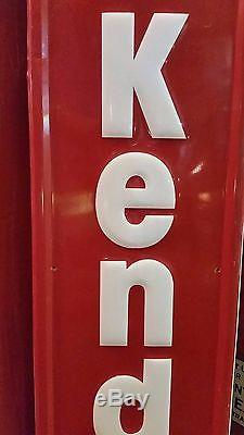 Vintage Embossed 72 x 12 Protect Your Investment With Kendall Motor Oil Sign