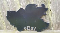 Vintage Esso Gasoline Porcelain Gas Oil Drop Boy Girl Auto Service Station Sign