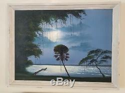 Vintage Florida Highwaymen by Mary Ann Carroll 24X36 Oil on Upson Board