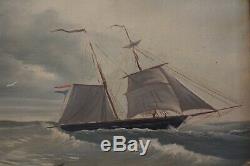 Vintage Framed Oil Seascape Painting Artist Signed