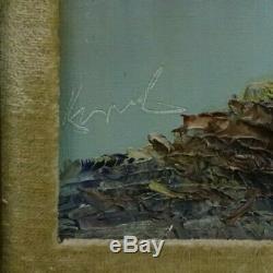 Vintage Framed Original Oil On Canvas By German Artist Kort 1928 Signed with COA