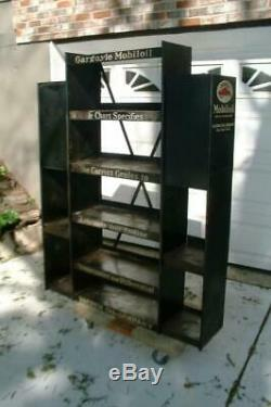 Vintage Gargoyle Mobil Oil Mobiloil Large Metal Display Rack Advertising Gas 30s