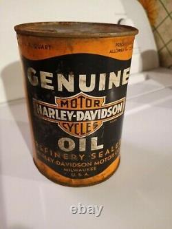 Vintage Harley Davidson Motor Oil 1 Qt. Can