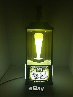 Vintage Heidelberg Light Pilsner Lighted Beer Sign rare oil lamp style