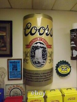 Vintage LARGE Coors Beer Can Metal Sign 3-D GAS OIL SODA COLA 5 Feet Tall