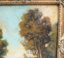 Vintage Landscape 10 X 8 Painting In Frame Signed