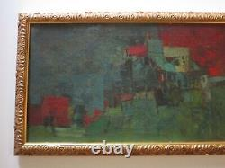 Vintage MID Century Cubist Cubism Abstract Painting Expressionism Mystery Art