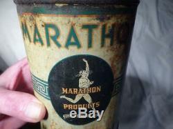Vintage Marathon Endurance Motor Oil Quart Can