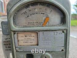 Vintage Martin Red Ball Parking Meter Gas Oil Sign Penny Nickel Coin Op Car Auto