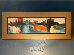 Vintage Mid-Century Abstract Oil on Board by Joe Ataide Original Palette Knife