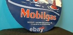 Vintage Mobil Mobilgas Pegasus Vintage Style Outboard Gas Oil Service Sign