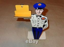 Vintage Mopar Parts Dodge Plymouth 12 Metal Business Card Holder Gas Oil Sign