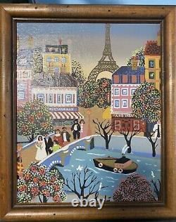 Vintage Original Folk Art Painting