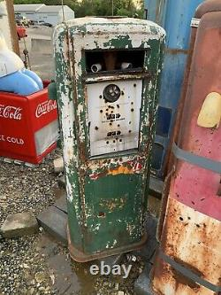 Vintage Original Gas Pump Neptune Garage Oil Car Sign Shell Texaco Sinclair