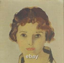 Vintage Original Oil Painting Art Deco Woman by Arthur Harris Listed