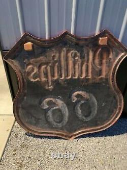 Vintage Original PHILLIPS 66 Fiberglass Sign by Federal 4 Foot GAS OIL SODA COLA