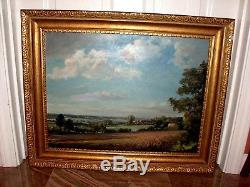 Vintage Original Signed Max Hofler, listed Oil Painting English Rural Landscape