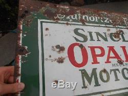 Vintage PORCELAIN Sinclair Gas Station Oil Advertising Sign with Can ORIGINAL