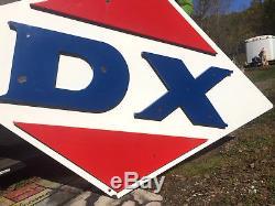 Vintage Rare 3d Porcelain DX Gas Gasoline Service Station Oil Sign LG 84inX48in