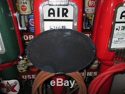 Vintage Rare Domed Mobiloil Gargoyle Vacuum Oil Gasoline Porcelain Sign