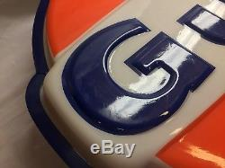 Vintage Rare GULF OIL GAS SIGN LIGHTED Original! WORKS with Extra Bulbs!