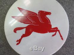 Vintage Round Pegasus Mobil Oil Sign