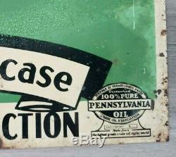 Vintage STERLING MOTOR OIL Sign double sided not porcelain Pennsylvania Oil