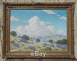 Vintage Signed Listed US Framed Oil Painting California Landscape circa 1930-40