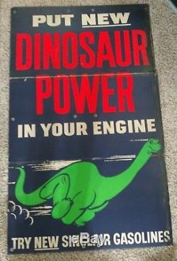Vintage Sinclair Dino Gasoline Oil Service Station Sign Cardboard Original Gas