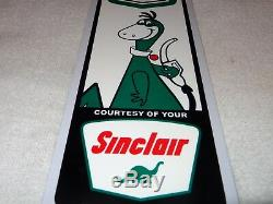 Vintage Sinclair Gasoline And S & H Green Stamps 15 Metal Gas & Oil Sign W Dino