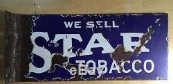 Vintage Star Tobacco Flange Sign Porcelain Not Gas Oil