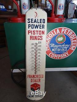 Vintage Thermometer Oil & Gas Sealed Powered Piston Rings