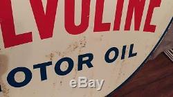 Vintage Valvoline Motor Oil 2 Sided 30 Metal Sign