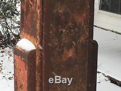Vintage WAYNE 60 Gas Pump ArT DeCo Antique Gas Oil Sign PATINA Display YaRd ArT