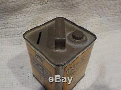 Vintage White Rose Gas EN-AR-CO Boy Motor Oil Can Advertising Tin Coin Bank Sign